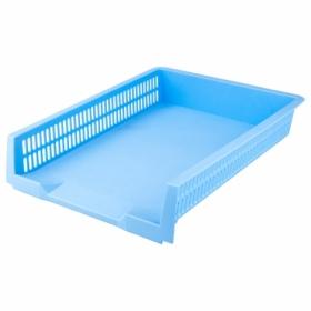 Лоток для бумаг горизонтальный Axent Pastelini пластиковый, голубой
