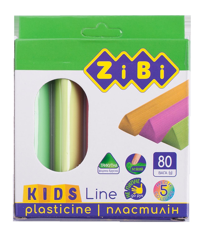 Пластилин ZiBi KIDS Line 5 цветов, 80 г