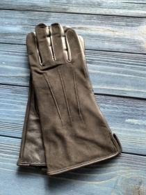 Перчатки женские кожанные ALFA 1001, размер 7, черные