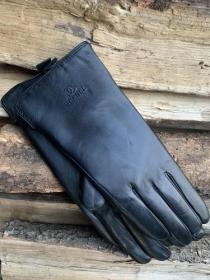 Перчатки женские кожанные ALFA 1003, размер 7, черные