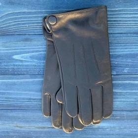 Перчатки мужские кожанные сенсорные ALFA 1004, размер 10, черные