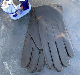 Перчатки мужские кожанные ALFA 1005, размер 10, черные