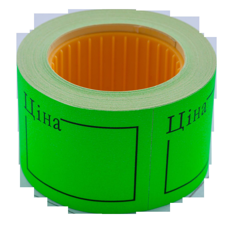 Ценник прямоугольный ЦІНА Buromax50х40 мм, 150 шт,зеленый