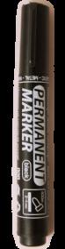 Маркер перманентный Buromax JOBMAX, 2-4 мм, черный