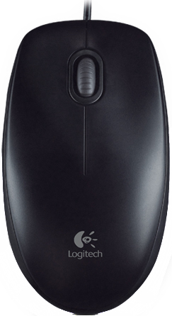 Мышь LOGITECH Optical Mouse B100, черная