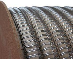 Металлическая пружина в бобине wireMARK LIGHT 22.3 мм, 5000 петель, 2:1 серебро