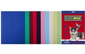 Набор цветной бумаги Buromax DARK+PASTEL А4, 80 г/м2, 20 листов, ассорти