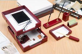 Набор настольный для руководителя BESTAR 6280WDM, 6 предметов, красное дерево