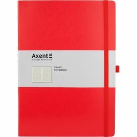 Книга записная Axent Partner Grand 21х29.5 см, 100 листов, клетка, красная