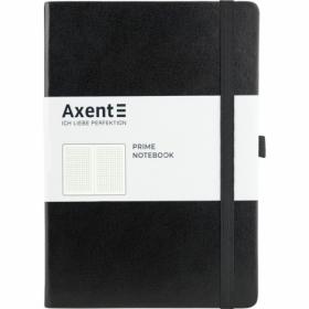 Книга записная Axent Partner Prime 14.5х21 см, 96 листов, клетка, черная