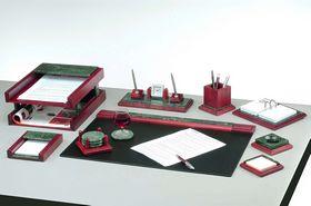 Набор настольный для руководителя BESTAR, 9 предметов, дерево-мрамор, красное дерево