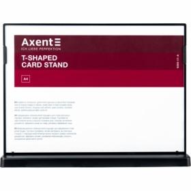 Табличка информационная Axent настольная двухсторонняя A4, черная