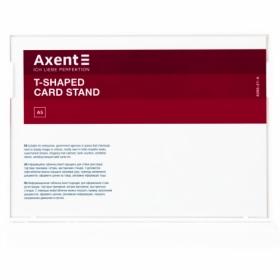 Табличка информационная Axent настольная двухсторонняя A5, белая