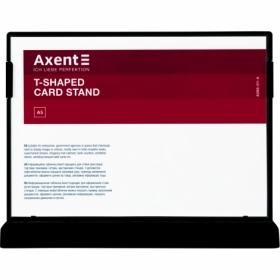 Табличка информационная Axent настольная двухсторонняя A5, черная