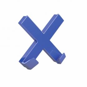 Магнит Dahle Mega Cross 90x90 мм, 1 шт, синий