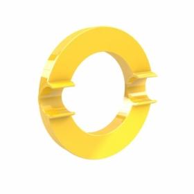 Магнит Dahle Mega Circle 80 мм, 1 шт, желтый