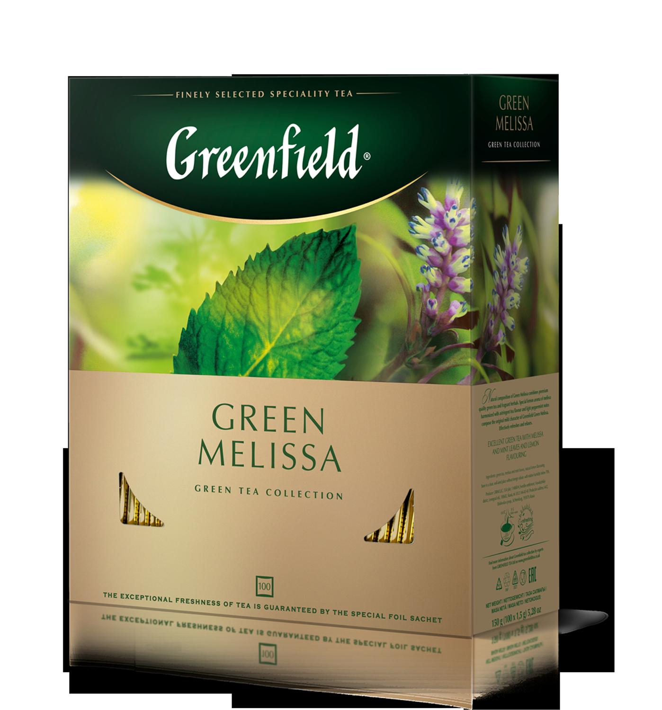 """Чай зеленый Green Melissa """"Greenfield"""" 1,5 гр., 100 шт, пакет"""