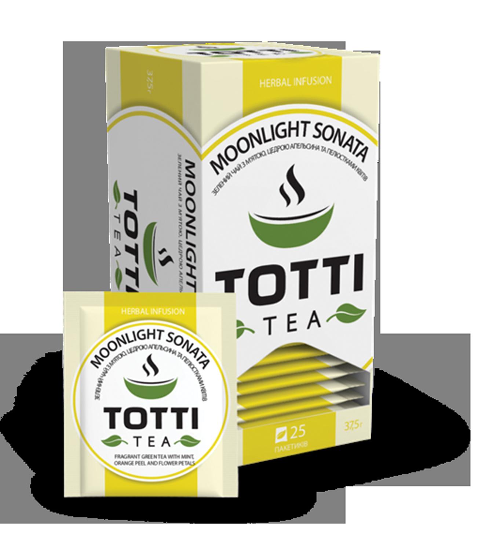 Чай травяной TOTTI Tea «Місячна Соната», пакетированный, 1,5 г, 25х32 мм