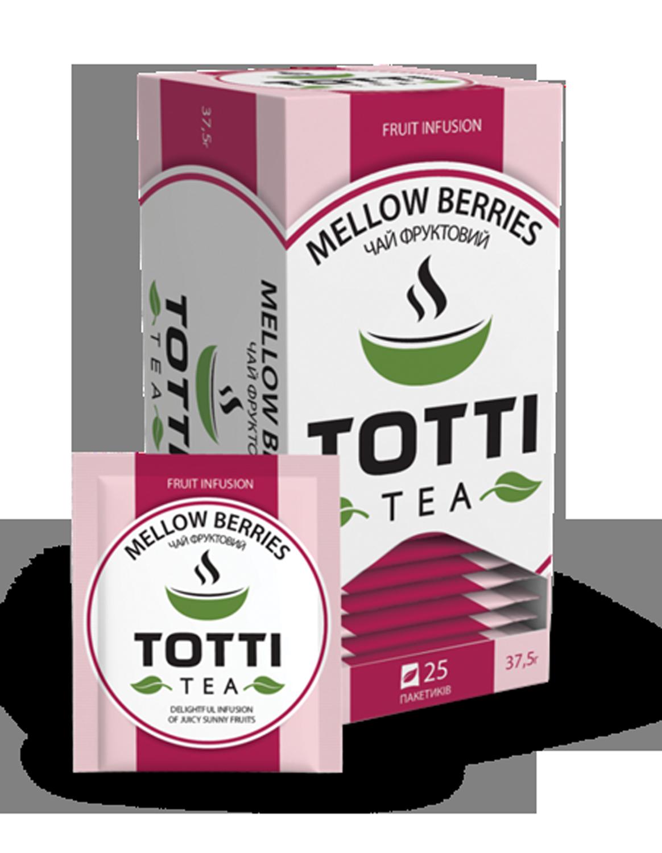 Чай фруктовый TOTTI Tea «Сочные ягоды», пакетированный, 1,5г, 25х32 мм