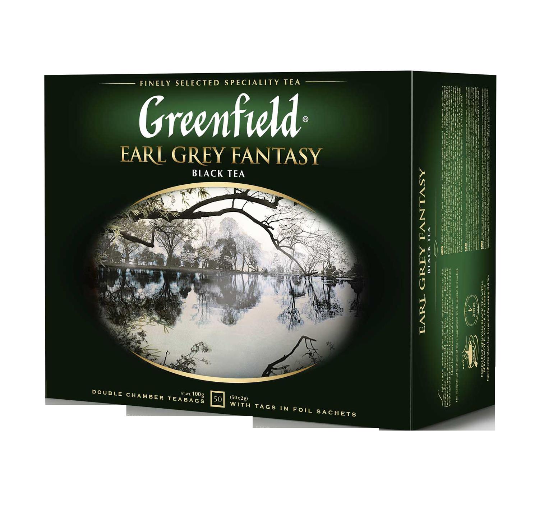 "Чай черный Earl Grey Fantasy ""Greenfield"" 2 гр., 50 шт, пакет"