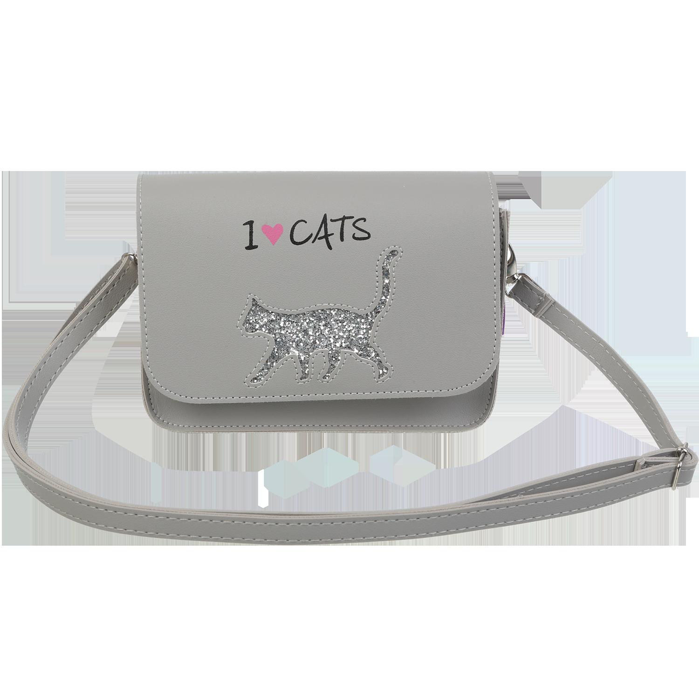 Сумка на плечо маленькая ZiBi CAT LOVER, серая - №1