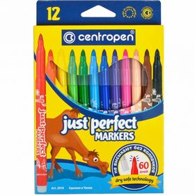Фломастеры Perfect 2510, Centropen, 12 цветов