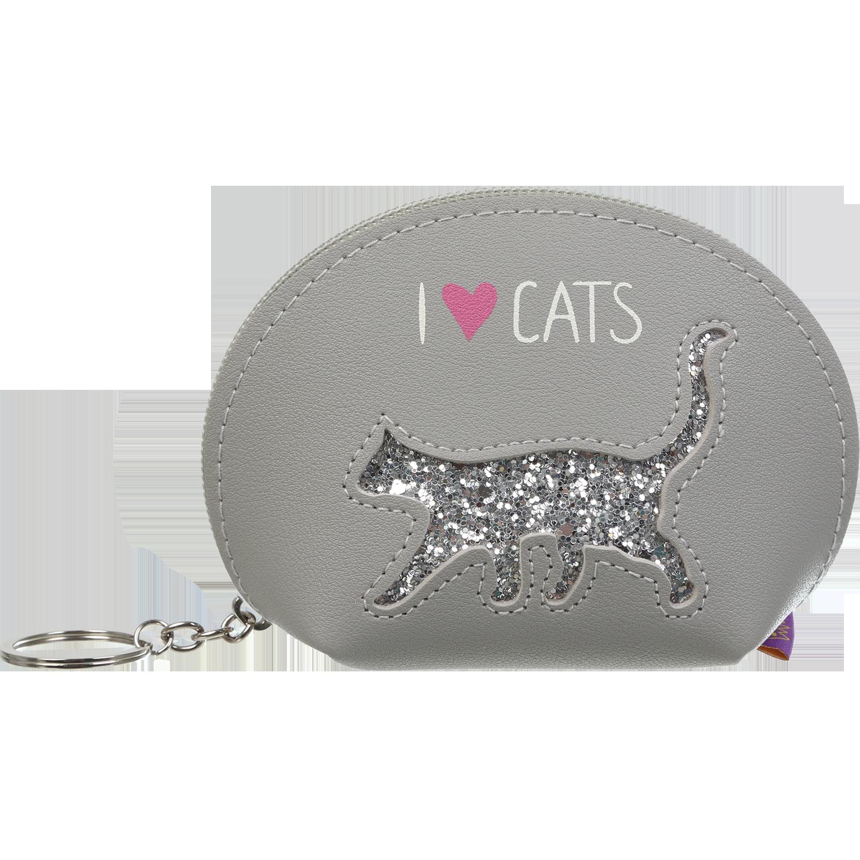 Кейс для монет ZiBi CAT LOVER, 1 отделение, серый