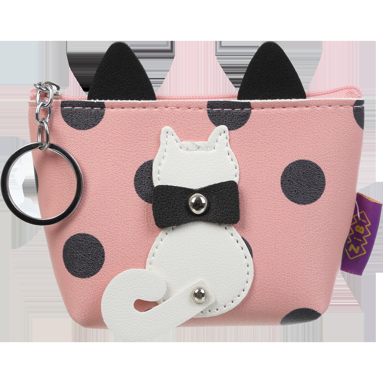 Кейс для монет ZiBi PUSSY CAT, 1 отделение, розовый