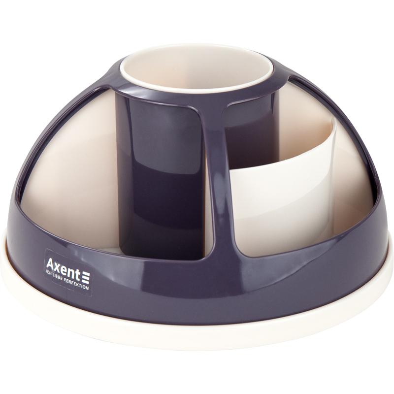 Подставка для офисных принадлежностей металлическая Axent Duoton, сливовая