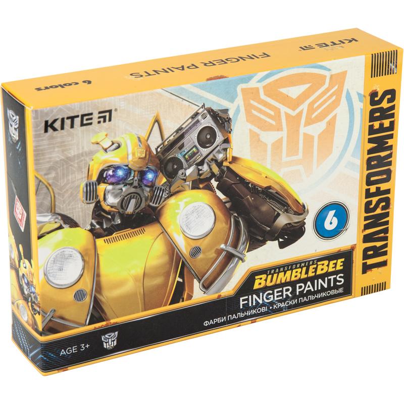 Краски пальчиковые KITE Transformers,6 цветов