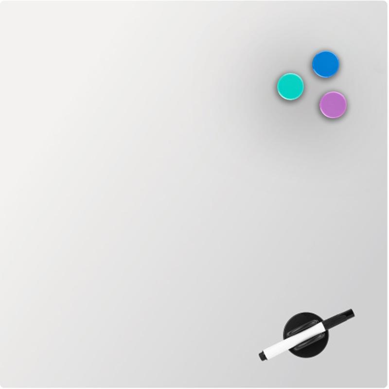 Доска стеклянная магнитно-маркерная 45х45 см, белая