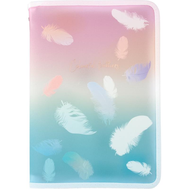Папка на молнии Axent Colourful Feather 01 А4+, 450 мкм