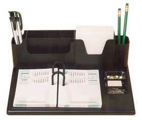 Подставка для календаря пластиковая с отделениями КИП ПКУ-07, черная