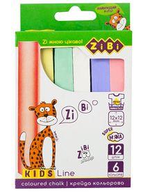 Мел цветной Zibi KIDS Line, 12 шт