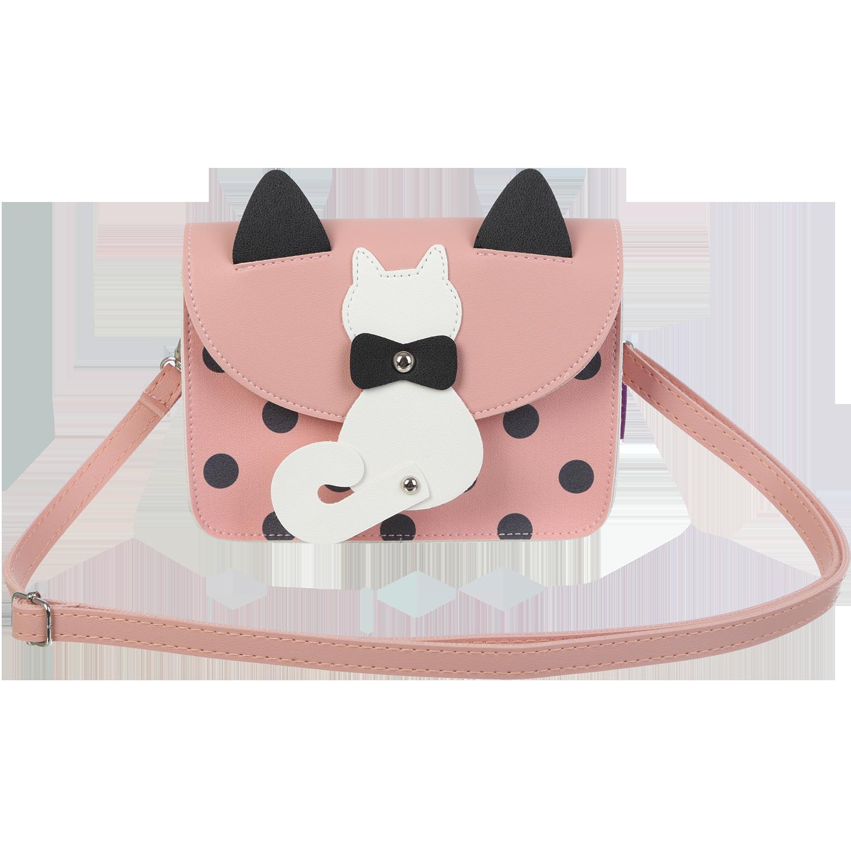 Сумка на плечо маленькая ZiBi PUSSY CAT, розовая - №1