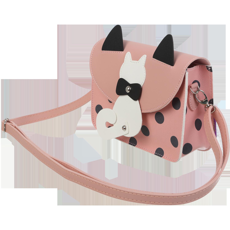 Сумка на плечо маленькая ZiBi PUSSY CAT, розовая - №2