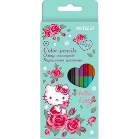 Карандаши цветные двухсторонние KITE Hello Kitty, 24 цвета