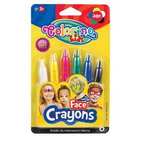 Краски для лица Colorino, 6 цветов