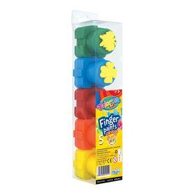 Краски-пазлы пальчиковые со штампом Colorino, 5 цветов