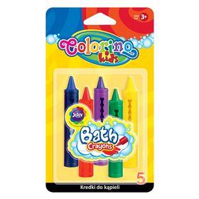 Мел цветной для рисования на мокрой поверхности Colorino, 5 шт