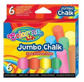 Мел цветной Colorino Jumbo, 6 шт