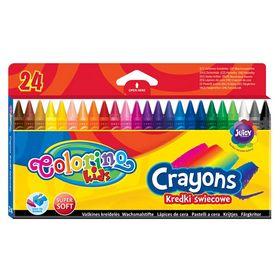 Карандаши-мелки цветные восковые Colorino, 24 цвета