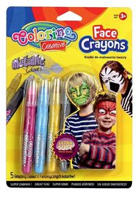 Краски для лица Colorino Metallic, 5 цветов