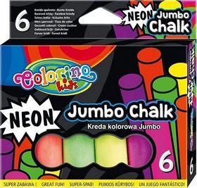 Мел цветной неоновый Colorino Jumbo, 6 шт