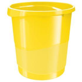 Корзина для бумаг пластиковая Esselte Vivida 14 л, желтая