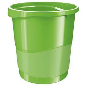Корзина для бумаг пластиковая Esselte Vivida 14 л, зеленая