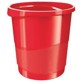 Корзина для бумаг пластиковая Esselte Vivida 14 л, красная