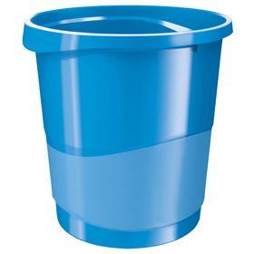 Корзина для бумаг пластиковая Esselte Vivida 14 л, синяя