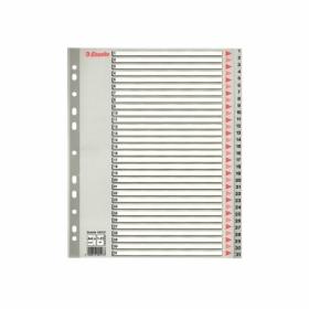 Индекс-разделитель Esselte 1-31 maxi А4, 31 раздел, РР, серый