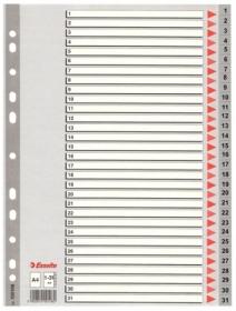 Индекс-разделитель Esselte 1-31 А4, 31 раздел, РР, ассорти
